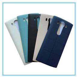 Original nueva puerta trasera de la batería con NFC inalámbrico para LG V10 H968 H901 carcasa trasera carcasa de repuesto blanco negro GoldFree envío desde fabricantes