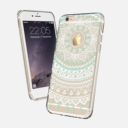 6s iphone mandala mais caso on-line-Para iphone x 8 8 plus flor floral ultra fino macio tpu silicone case capa para iphone 6 7 plus 7 6 S 5 S Branco Mandala Elephant Dream Catcher