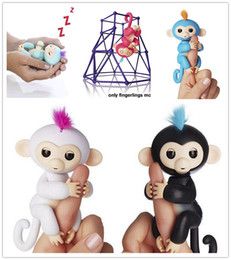 Wholesale Wholesale For 15 - Finger Monkey Toys 6 colors Fingerlings With 40+ function Interactive Monkey Electronic Smart Touch Fingers Monkey Baby toy For Party Gift