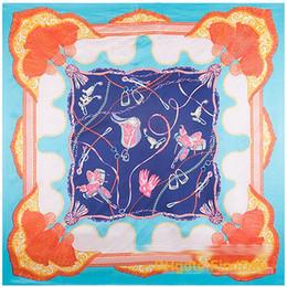 La nouvelle simulation 90cm châle de surface satin glands corde selle dame foulards de soie ? partir de fabricateur
