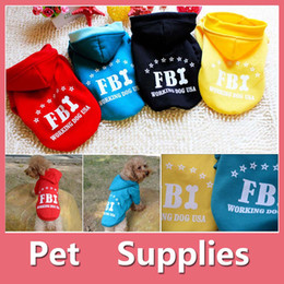 Wholesale Wholesale Winter Jacket Sale - Hot Sale FBI Big Dog Pets Warm Cotton Jacket Vest Winter Coat Hoodie Puppy Winter Clothes Pet Costume Pet Supplies 160911