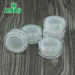 Wholesale Clear Plastic Jars For Cosmetics - Simple High Quality Small Clear 5g 5ml Cosmetic Jar For Eye Cream Container Plastic Cosmetic Container Silicone Container with lid
