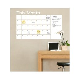 Wholesale Paper Wall Calendar - 60*92CM # White This Month Monthly Calendar Chalkboard Paper Chalk Boards Wall Sticker Decals Removable For Student Baby Nursery FX202