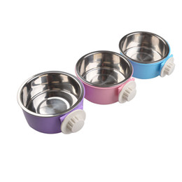 Wholesale Bowl Dish Ceramic - Plastic Stainless Dog Bowl Pets Standard Puppy Cat Food or Drink Water Bowl Dish Skid Resistance