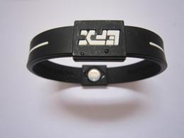 Wholesale Health Balance Bracelet - 50Pcs lot Silicone Bracelet with Bracelets Power Bands Health Balance Energy Wristband With Free Shipping