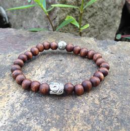 Wholesale Wood Beaded Bracelet Men - SN0408 Newest Design Jewelry Lines on wood bead bracelets Buddhist buddha head bracelet wood jewelry for man