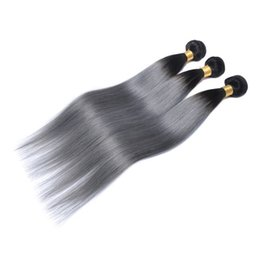 Wholesale Two Tone Weft Remy - Ombre Brazilian Hair Human Hair Bundles Two Tone Wefts Peruvian Malaysian Indian Mongolian Virgin Remy Hair Extensions Wholesale