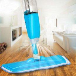 Wholesale Microfibre Mop Cloth - 2017 new Water Spray Squeeze Magic Mops Floor Cleaning Multifunctional Aluminium Pole Microfiber Mop Household Cleaning Tools