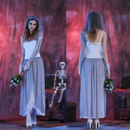 Wholesale Ghost Suit - Cos Halloween corpse bride Ghost bride skeleton collection role play suits the god of hell Female zombies