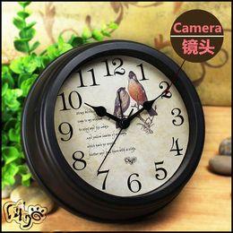 Wholesale Spy Camera Clock Dhl - DHL free shipping Z7 H.264 -1080P WIFI Clock Spy Hidden IP Camera Wall Clock Motion Detection Nanny Record Cam