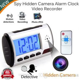Wholesale Camera Motion Clock - Spy Camera Alarm Clock Mini Video Recorder Hidden Cam DVR Motion Detection nanny cam Surveillance