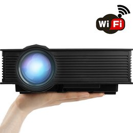 "Wholesale Usb Wireless Projector - WiFi Wireless Projector Support HD 1080P Video Full Max 130"" Pro Portable LCD LED Projector For Home Theater Cinema Video Games"