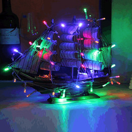 Wholesale Net Indoor Curtains - 10M 80 LED string lights AAA battery Colorful outdoor indoor decoartion String Lights OMX fairy LED Christmas Decoration lights