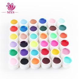 Wholesale Nail Polish Beauty Tips - 36 Colors Pure Nail polish Glitter Solid Color UV Nail gel Nail Art Tips Gel Beauty