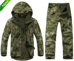 Wholesale Shark Skin Soft Shell Jacket - Fall-TAD Lurker Shark skin Soft Shell TAD V 4.0 Outdoor Military Tactical Jacket Waterproof Windproof Sports Army Outerwear Clothing