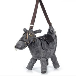 Wholesale Extra Large Brown Bags - 2016 New Listing women's canvas handbag horse bag pegasus donkey bag lovers bag messenger bag personalized women's handbag