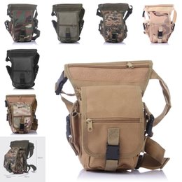 Wholesale Art Messenger Bags - 2016 Multi-Function Military Travel Outdoor Leg Bags 7 Color Cycling Thigh Messenger Pack Shoulder Waist Bag Free DHL E601L