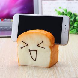 Wholesale Brand Joy - Wholesale- Brand New Jumbo Soft Squeeze 7 Seconds Slow Raising Slice Toast Joy Happy Faces Holder Decor Toys Gift For Children Adult