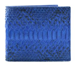 Wholesale Skin Shorts - Wholesale- Luxury mixed color real exotic snake python skin wallet, short genuine python leather wallet