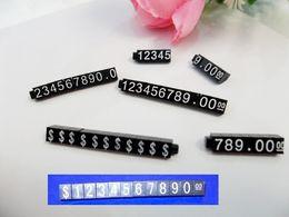 Wholesale Acrylic Price Tags - Wholesale 50pcs lot Acrylic U.S.Dallar Price Tag Plastic Price Display Brand Jewelry Display Counter Price Indicator