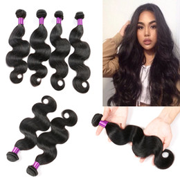 Wholesale Hair Extensions Machine Buy - Malaysian Hair Weave Body Wave Bundles Can Buy Human Hair 3 4 Bundles With Closure Bellqueen Non-Remy Hair Extensions