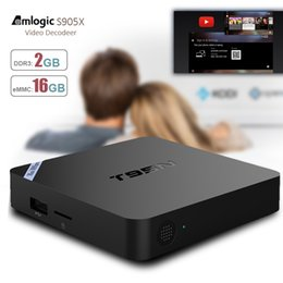 Wholesale Android Tv Box Wifi Remote - T95N Mini M8s Pro S905X Android TV Box 2gb 16gb Quad-Core 4K HDR Ultra-HD H265 VP9 Ethernet WiFi SPDIF IR Remote