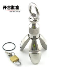 Wholesale Adult Sex Big Toy - NEW Big stainless steel Anal plug dildo erotic toys Enemator Sex Products for couples Butt Plug penis Adult gay Sex Toys For men