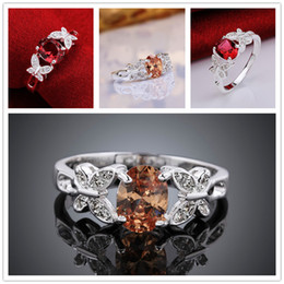 Wholesale New Fashion Butterfly Ring - Brand new 10 pieces 925 silver Insets of Butterflies Ring GSSR648 Factory direct sale brand new fashion sterling silver finger ring