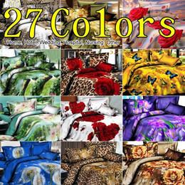 Wholesale Cheap 3d Quilts - Wholesale-Promation! 3D Animals Bedding Set Pastoral Cheap Cotton Bed Linen Quilt   duvet Cover Sets Double Bed 4pcs King Size