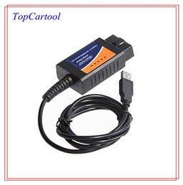 Wholesale Elm 327 Obd2 Eobd Can - Topcartool OBDDIY ELM327 Interface ELM327 USB OBD2 EOBD CAN-BUS Scanner ELM 327 USB V1.4B scan tool USB ELM327 ELM scan tool