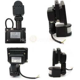 Wholesale Cheap Pir Light Sensors - 10W PIR Motion Sensor Flood Light Pure White LED Lamp Home Outdoor Security Floodlights Cheap Floodlights
