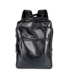 Wholesale leather fashionable backpacks - sales brand new Europe college mens bag wind leisure brand backpack for male and female students leather bag Fashionable male bag