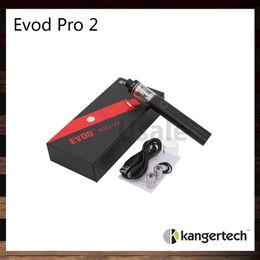 Wholesale Flow Designs - Kanger Evod Pro 2 Starter Kit All in One Design 4ml Capacity and 2500mah Built in Battery Sliding Symmetrical Air Flow Valve 100% Original