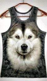 Wholesale White Tank Top Large - Wholesale- Sales New Brand Fashion 3D O-Neck Tank Men Tops Summer Male Sleeveless V-Neck Vest 2016 Casual Gilet free shipping Large Size