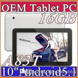 DHL 2015 más nuevo Allwinner A83T 10 pulgadas Octal-Core 1024 * 600 tablet pc 16 GB Android 5.1 Bluetooth HDMI USB OTG D-10PB desde fabricantes