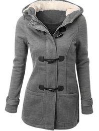 Wholesale Double Hood Jacket - 2016 Autumn Winter Women Jacket Keep Warm Lover's hat Hood Long Coat Cotton-Padd Parka Outerwear double-breasted tweed long coat hot style