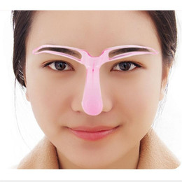 Wholesale Country Beauty - 2017 Fashion Women Eyebrow Stencils Shaping Grooming Eye Brow Make Up Template Reusable Design Beauty Tools#Orange Country#