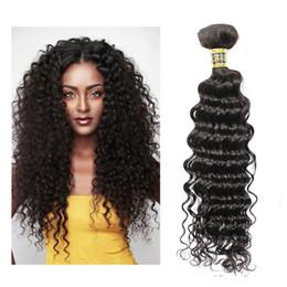 Wholesale 28 Inch Bundle Hair - Tissage Brazilian Deep Wave Virgin Hair Weave Bundles 8-28 inch Natural Black High Quality Unprocessed Curly Human Hair Weave