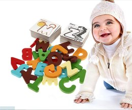 Wholesale New Educational Toys - New Wooden Early Education Baby Preschool Alphabet Learning ABC Alphabet Letter Cards Cognitive Toys Animal Puzzle
