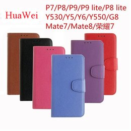 Wholesale Kickstand Double - Wallet Style Lichi PU Leather Case Double Magnet TPU Leather Case For Huawei P9lite Galaxy s7 s7edge A3 A5 A7 2016 Cover kickStand
