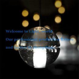Wholesale Glass Led Shower Heads - Pendant Lamp 1 Head Bocci LED Crystal Glass Ball Meteor Rain Ceiling Light Meteoric Shower Stair Light Droplight Chandelier Lights