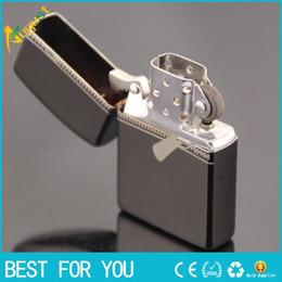 Wholesale Cool Cigarette Lighters - Classic Men Metal Oil Cigarette Lighter Smoking Cool Smoking Cigar Flint Kerosene Lighters Multi-Pattern