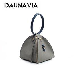 Wholesale Plain Blazers - Mini Messenger Bag Women's Handbag 2017 Fashion frosted Triangle Bundle Blazer Shoulder Bag Retro matte skin