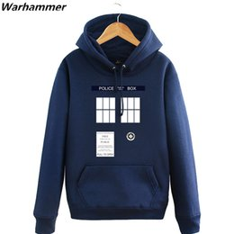 fff1a5e956f2a New Doctor Who Hoodies Mens Tardis Call Box Pullover Sweatshirts Printed  Womens Hooded Tracksuit Winter Fleece Blue Plus Size XXL Jackets