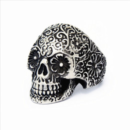 Wholesale Stainless Steel Biker Skull Rings - wholesale bulk lots 25pcs mix Men's Stainless Steel Punk Rock Gothic Skull Biker Jewelry Rings brand new