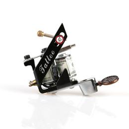 Wholesale Tattoo Gun Machine Design - New Design New Cast Iron Tattoo Machine Shader 10 Coils Tattoo Machine Gun Art Supply TM8397