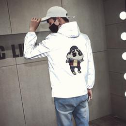 Wholesale Turtleneck Jacket Men - Wholesale- New Arrival men jacket 3D Poker 3M Reflective Windbreaker Jacket Men Coat Wind Breaker Waterproof Mens Jackets And Coats G19