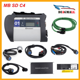Wholesale Engine For Mercedes Benz - 2016 High Quality MB Star SD Connect C4 Diagnostic Tool For Mercedes SD C4 With Wifi Software DHL Free Shipping