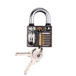 audi lock pick tools Desconto New Visible Cutaway Prática Cadeado Bloqueio Bloqueio Bloqueio Pick Trainer Trainer Pick Para Serralheiro com 3 chaves E5M1 ordem $ 18no faixa