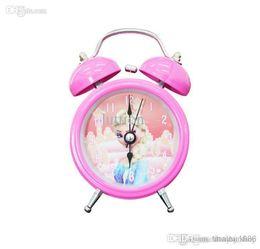 Wholesale Originality Clock - New Arrive Hot Sell Europe Cartoon Frozen Princess Elsa Anna Clocks Originality Home Decor Children Gifts High Quality Alarm Clock